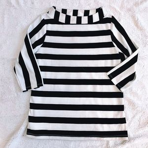 Anthropologie Postmark Striped Mock Neck Shirt